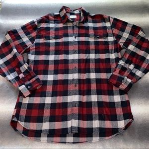 Jachs Shirts - Jachs Red/Black/White Brawny Plaid Flannel Shirt